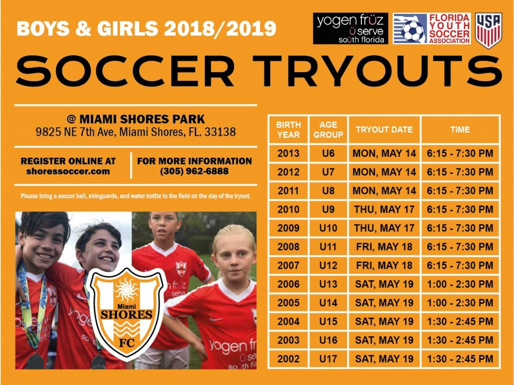 2018 / 2019 Tryouts