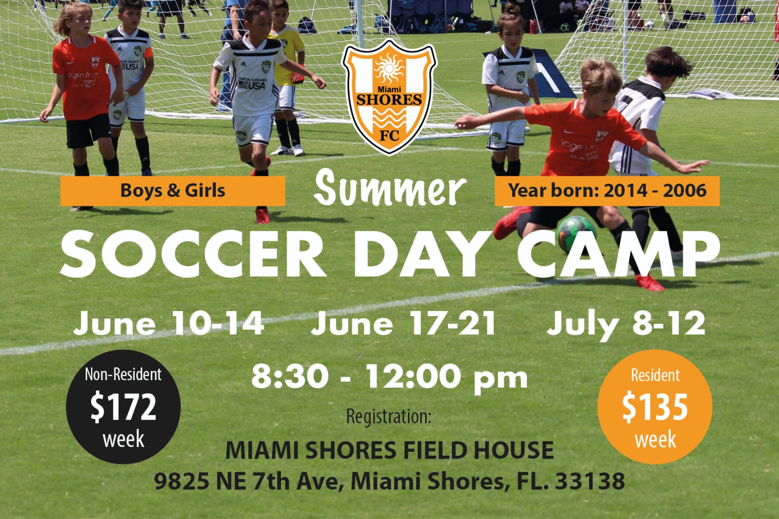 MIAMI SHORES SOCCER SUMMER DAY CAMP